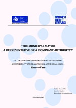 The municipal mayor - a representative or a dominant authority?
